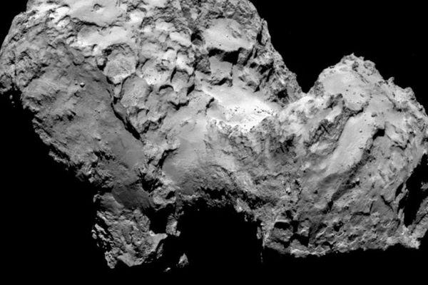 La comète Tchouri vue par la sonde Rosetta, le 3 août 2014.