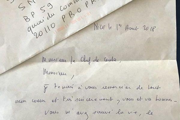 Secours en mer : elle écrit une lettre pour dire merci à ses sauveteurs