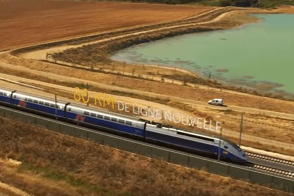 Le premier TGV qui teste la nouvelle ligne Nîmes-Montpellier