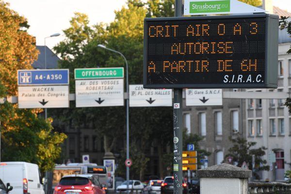 A partir du 1er janvier 2022, les véhicule sans vignette Crit'air ne pourront plus circuler à Strasbourg.