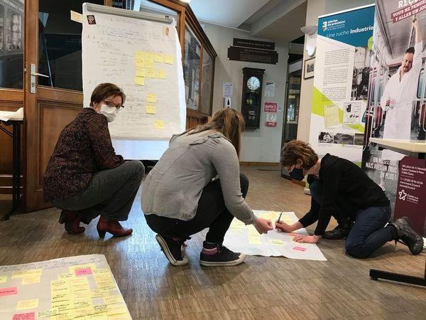 5 février : l'équipe est en pleine réflexion sur le nouveau parcours muséographique du futur musée.