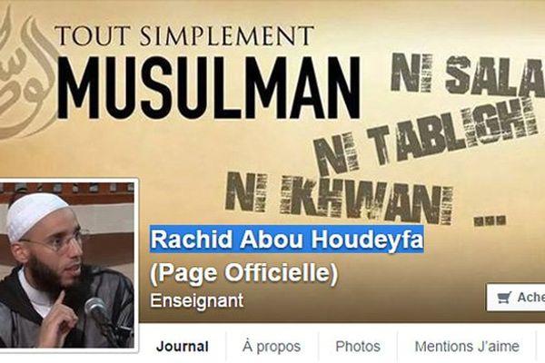 La page facebook de Rachid Abou Houdeyfa, imam de la mosquée Sunna de Brest
