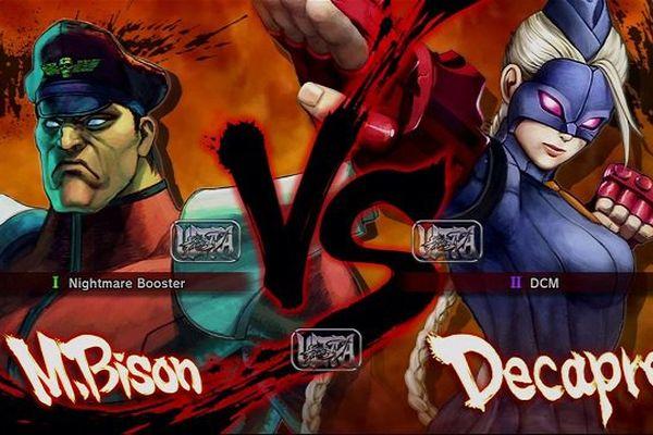 M. Bison et Decapre, deux personnages du jeu de combat Ultra Street Fighter IV