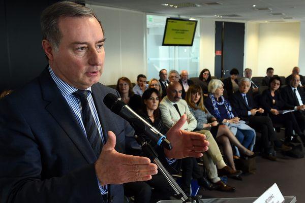 Jean-Luc Moudenc en avril dernier lors de la présentation de la stratégie financière de la ville