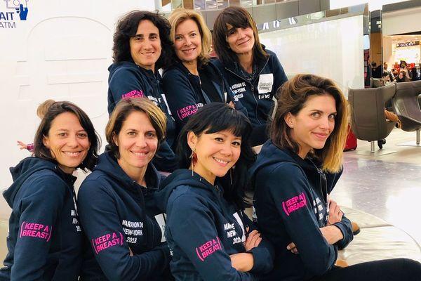 Les coureuses et l'équipée de la fondation Keep a breast va s'envoler vers New-York pour le marathon de dimanche. Le projet est soutenu par Valérie Trierweiler.