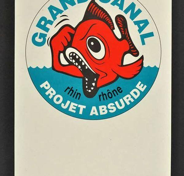 Un petit poisson en colère : c'était le logo des opposants au projet de canal à grand gabarit dans la vallée du Doubs