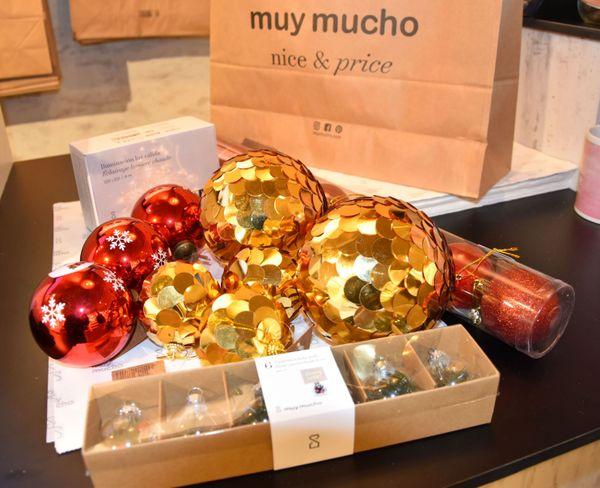 Proposition de d'objets de décoration pour le sapin de Noël 2019, à petit prix, par Vivien de Muy Mucho.