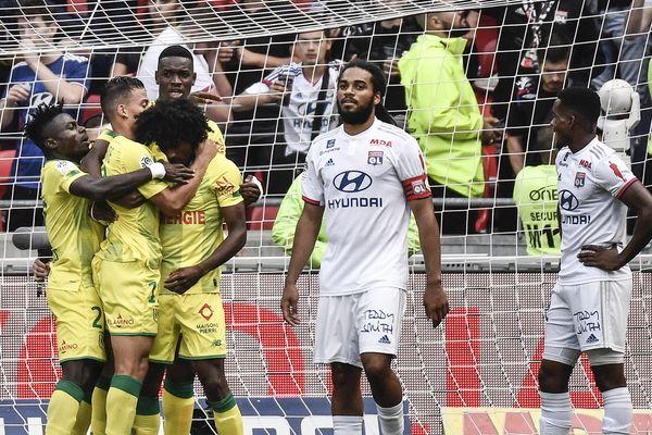 La rencontre OL Nantes ce samedi à Décines ... Samuel Moutoussamy après l'unique but de la rencontre