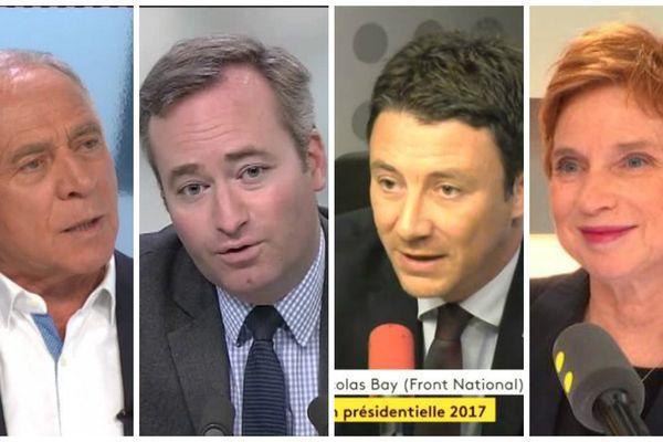 François Patriat, Jean-Baptiste Lemoyne, Benjamin Griveaux et Laurence Parisot