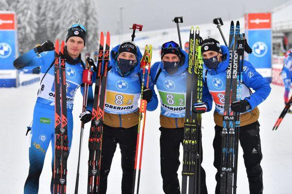 L'équipe de France de biathlon s'impose sur le relais d'Oberhof.