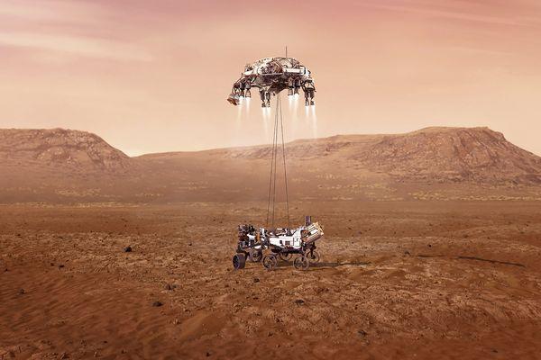 L'amarsissage de la sonde Persévérance envoyée par la NASA vers la planète Mars il y a 7 ans