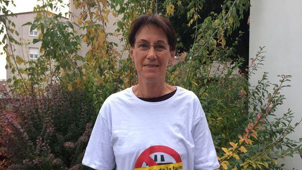 """Elisabeth Dupeux, membre du collectif """"GCO Non Merci""""."""