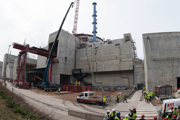 Le chantier de l'EPR de Flamanville en mars 2016