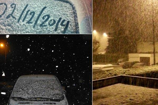 De la neige dans le Nord Pas-de-Calais pour la première fois de la saison...