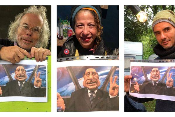 Fatima, Didou, et José, trois marionnettistes au Festival mondial à Charleville-Mézières, se souviennent de la marionnette de l'ancien président Chirac