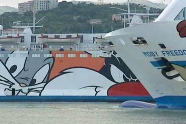 La Moby LInes, qui dessert l'Italie, n'assure plus aucune traversée.