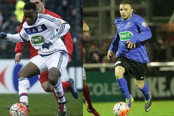 Le FC Chambly (Nat) affronte l'Olympique lyonnais (L1) lors des 16e de finale de la Coupe de France de football, le 20 janvier 2016 à Beauvais (60).