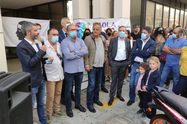 Le rendez-vous est fixé à 10h30 devant l'inspection académique de Haute-Corse, à Bastia