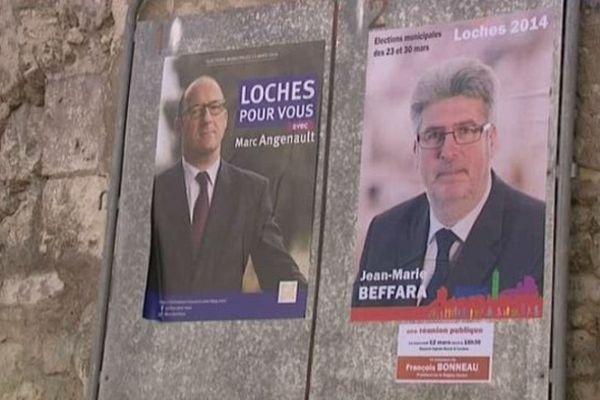 Affiche de campagne à Loches
