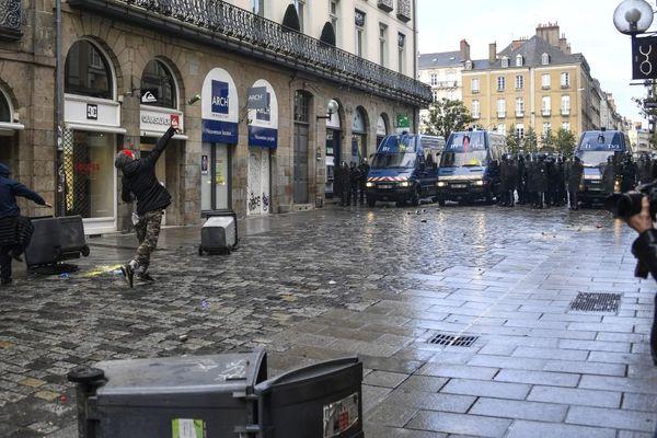 Mi-janvier, le ton était monté entre manifestants et forces de l'ordre dans le centre-ville de Rennes.