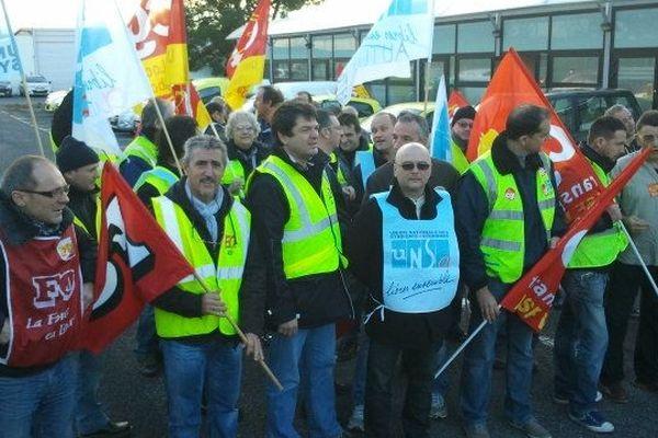 Manifestation du personnel des ASF à Narbonne : image d'archives