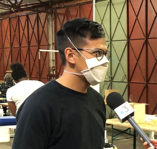 Davy Dao et son masque.