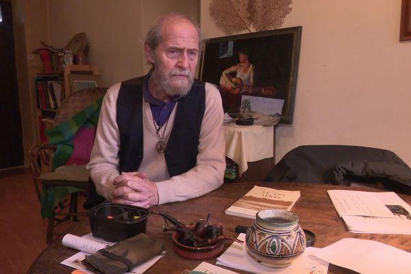 Christian Pénicaud se bat depuis 45 ans contre la pollution radioactive dans les monts d'Ambazac.