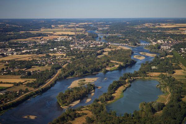 Notre belle région Centre-Val de Loire vue d'en haut.