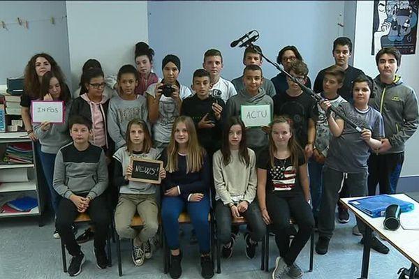 Les élèves d'une classe de quatrième du collège Victor Hugo de Besançon