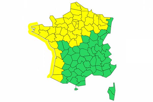A midi, la région est repassée en vigilance jaune.