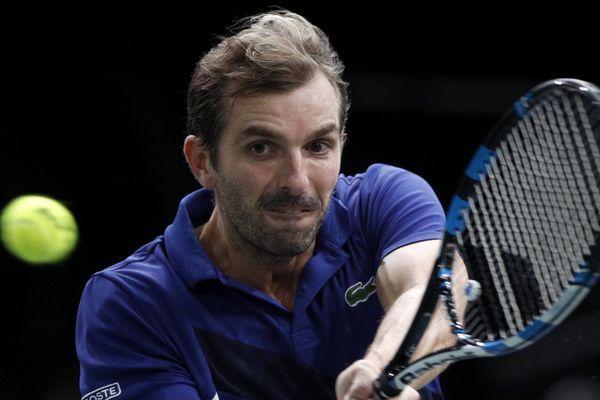 Le joueur français Julien Benneteau, au tournoi de Bercy, le 1er novembre 2017.
