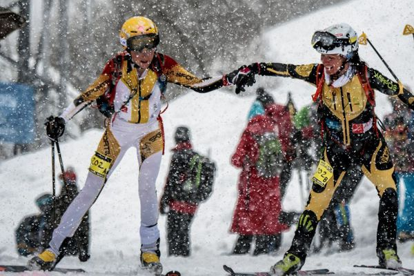 Axelle Mollaret et Katia Tomatis, le tandem vainqueur chez les filles l'an dernier.
