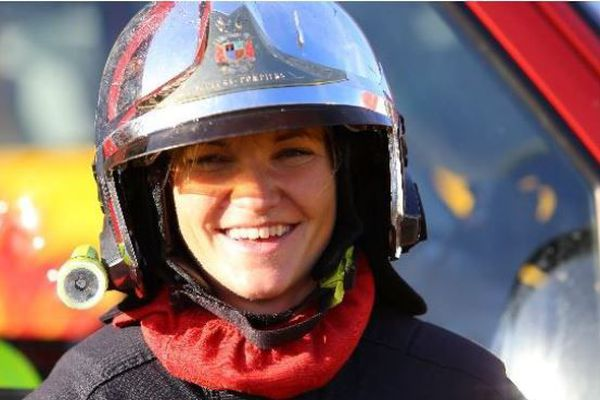 Emmanuelle Rodriguez sapeur pompier professionnel à Montbéliard.