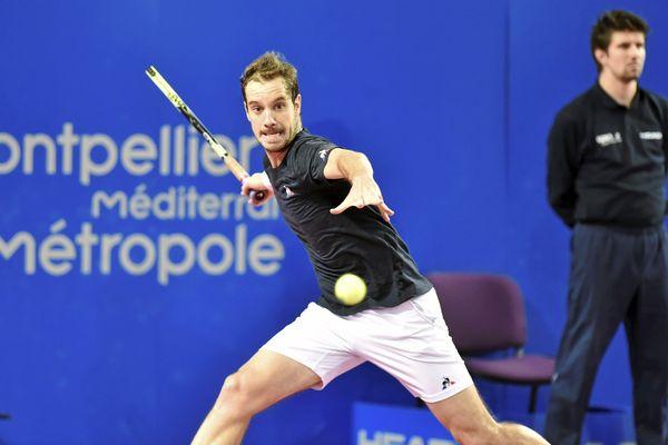 Richard Gasquet lors de la finale face à Lucas Pouille, 'Open Sud de France 2018