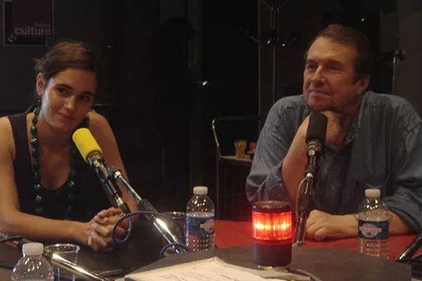 Marie Hoffmann et François Florent Eichholter lors d'une émission radio.