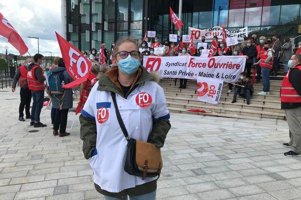 Marion Gomis, infirmière à l'EHPAD Saint Nicolas