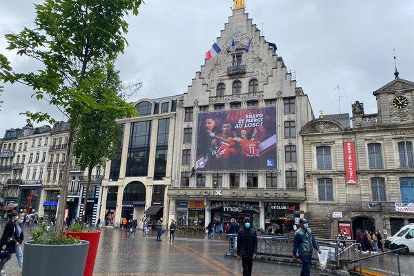 Sur la Grand'place de Lille, le samedi 22 mai.