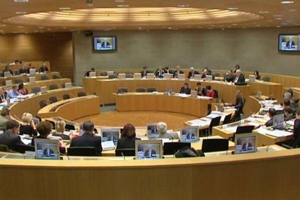 La séance plénière consacrée au budget primitif 2014 de la Région Alsace