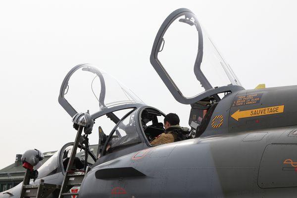 Un Mirage 2000D de la 3e escadre de chasse, stationnée sur la base aérienne 133 de Nancy-Ochey. L'escadrille 2/3 Champagne est armée de ces avions.