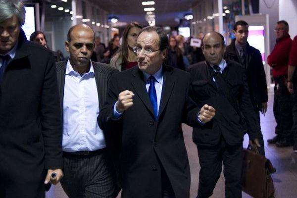 kader Arif avec François Hollande lors de la campagne des primaires du PS