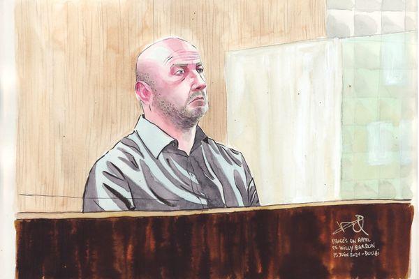 Willy Bardon lors du 2e jour de son procès en appel devant la cour d'assises de Douai pour le meurtre d'Elodie Kulik