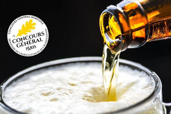 En médaillon, le logo du concours général agricole que l'on retrouvera sur les étiquettes des bières primées