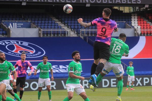 L1: le PSG bat Saint-Etienne 3-2 in extremis grâce à une tête de Mauro Icardi - 18 avril 2021
