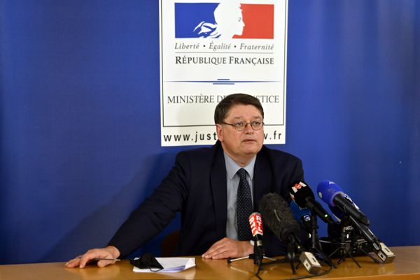 Le procureur de la République de Nancy, en charge de l'affaire Mia, lors d'un point presse vendredi 23 avril.