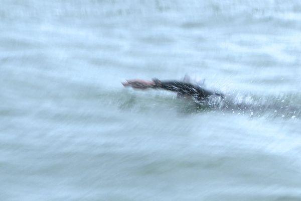 Jean-Jacques Savin s'entraîne à traverser le bassin d'Arcachon de long en large avant de s'attaquer à la Manche dans quelques semaines