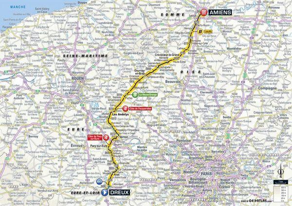La carte de la 8e étape du Tour 2018