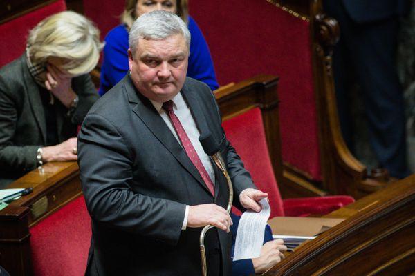 Le maire Éric Straumann, alors député du Haut-Rhin, photographié aux questions au Gouvernement (QAG) à l'Assemblée nationale en décembre 2017.