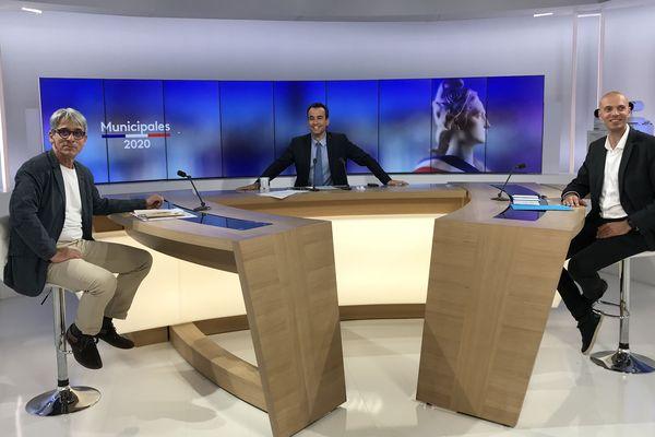 Gérald Loridat (DVG) et Eric Koeberlé (LR) ont répondu aux questions de Jérémy Chevreuil.