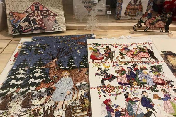 Des calendriers de l'Avent et des cartes de voeux, peintes par Guy Untereiner