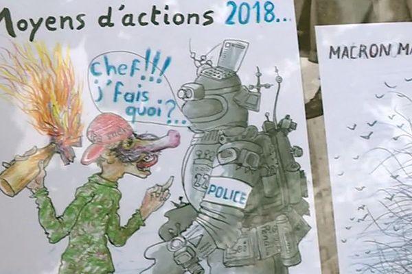 Aimargues (Gard) - 50 croquis polémiques à l'origine de l'annulation d'une exposition - septembre 2019.